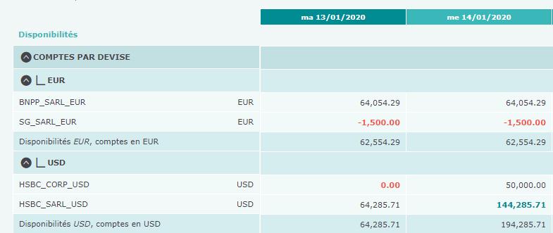 Capture des comptes bancaires et des prévisions dans le logiciel Iziago